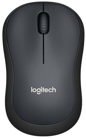 Logitech M220 Silent brezžična miška, črna