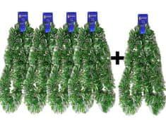 EverGreen Řetěz Chunky zeleno-stříbrný 4+1 ks