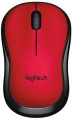 Logitech M220 Silent brezžična miška, rdeča