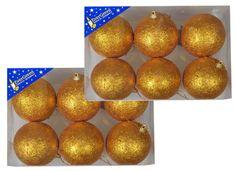 EverGreen bunkice z bleščicami 2x 6 kosov, zlate