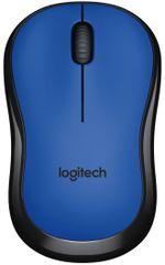 Logitech M220 Silent brezžična miška, modra