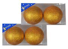 EverGreen Koule glitter 2x 2 ks zlatá