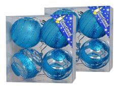 EverGreen Bombki niebieskie 2 x 4 sztuki