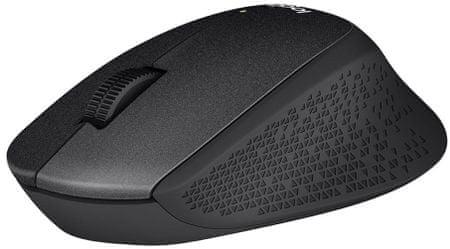 Logitech miška M330 Silent Plus, črna