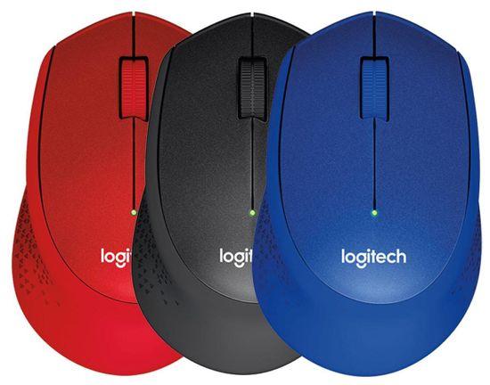 Logitech M330 Silent Plus brezžična miška, črna