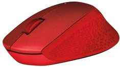 Logitech miška M330 Silent Plus, rdeča