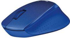 Logitech miška M330 Silent Plus, modra