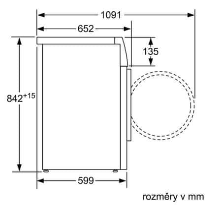 Bosch sušička prádla WTW87467CS - zánovní