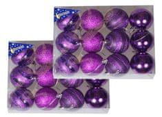 EverGreen bunkice s črtami 24 kosov, vijolična