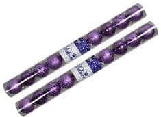 EverGreen božične bunkice Mix, vijolična, 6 cm, 20 kos