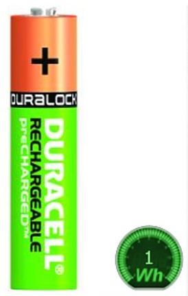 Duracell polnilne baterije HR03-A AAA 850mAh NiMH, 4 kosi