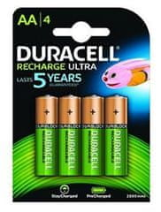 Duracell polnilne baterije HR06-P AA 2500 mAh NiMH, 4 kosi