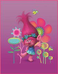 CTI Trolls Poppy fleecová deka 110x140 cm