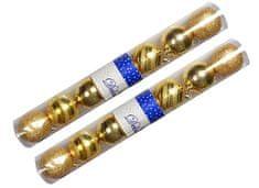 EverGreen božične bunkice Mix, zlata, 8 cm, 14 kos