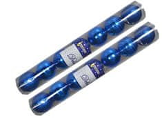 EverGreen božične bunkice Mix, modre, 8 cm, 14 kos