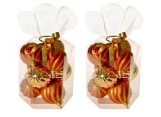 EverGreen set božičnih okraskov, 2x 9 kosov, rdeče-zlate