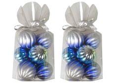 EverGreen set božičnih okraskov, 2x 9 kosov, modro-srebrni