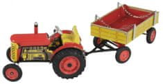 KOVAP Traktor Zetor s prívesom červený