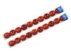 EverGreen božične bunkice, rdeče, 6 cm, 20 kos