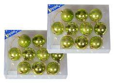 EverGreen božične bunkice, sijaj in mat, zelena, 6 cm, 20 kos