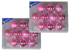 EverGreen božične bunkice, sijaj in mat, roza, 6 cm, 20 kos