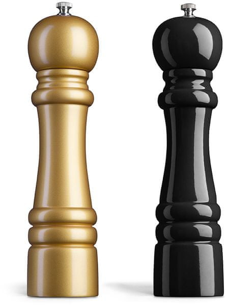 Amefa Mlýnek na sůl a pepř dřevo 26 cm zlatý