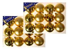 EverGreen Koule lesklé a matné 2x 12 ks zlatá