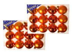 EverGreen božične bunkice, sijaj in mat, bakrene, 6 cm, 24 kos