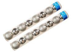 EverGreen božične bunkice, srebrne, 8 cm, 16 kos