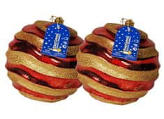 EverGreen božične bunkice, rdeče, 15 cm, 2 kosa