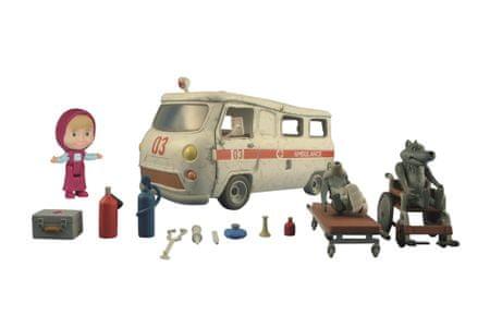 Simba Máša a medvěd - Ambulance hrací set