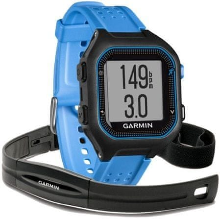 Garmin Forerunner 25, Black Blue, GPS, HR, XL