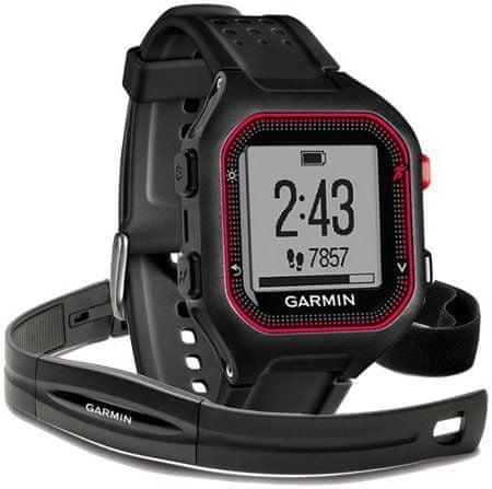 Garmin Forerunner 25, Black Red, GPS, HR, XL