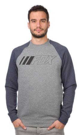 FOX moška jopica Crewz Crew Fleece L siva
