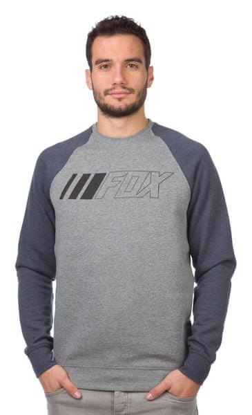 FOX pánská mikina Crewz Crew Fleece S šedá