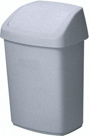 Curver Koš za smeti Swing 25 L, siv