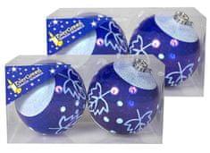 EverGreen božične krogle, z zimskimi motivi, 2x 2 kosa, večje