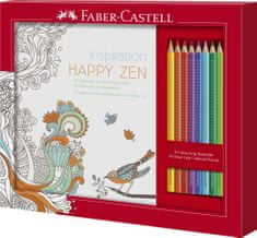 Faber Castell GRIP barvice 8/1 + pobarvanka Happy Zen