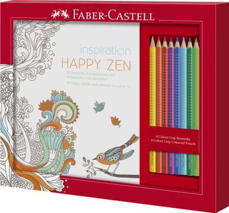 Faber Castell GRIP bojice 8/1 + bojanka Happy Zen