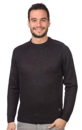 Brave Soul moški pulover Drax L temno siva