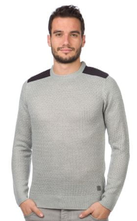 Brave Soul moški pulover Drax XL siva