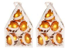 EverGreen božične krogle, 2x5, zlate