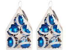 EverGreen božične krogle, 2x5, modre