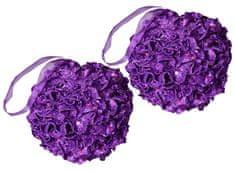 EverGreen božični ornament, roža, vijolična, 2 kosa