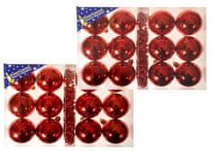 EverGreen set 2x12 kroglic, rdeče