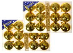 EverGreen set 2x12 kroglic, zlate
