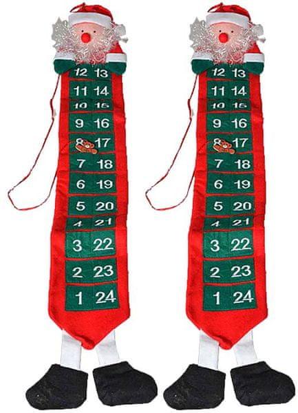 EverGreen Adventní kalendář Santa