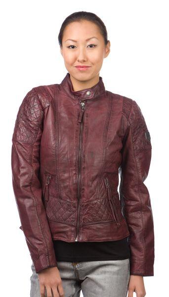 Mustang kožená dámská bunda Edith S vínová
