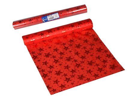 EverGreen dekorativni prt z zvezdami, rdeč, 2 kosa