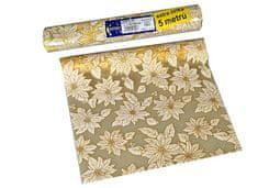 EverGreen dekorativni prt z božično zvezdo, zlat, 2 kosa